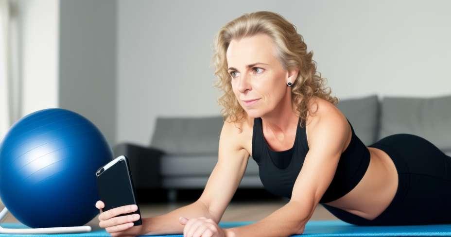 Stiprinti savo širdį su fitball