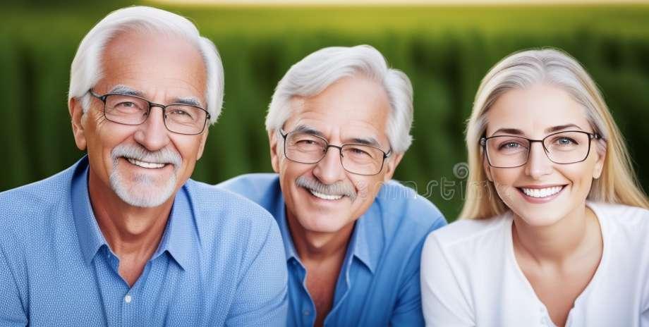 Schöne Blicke bei älteren Erwachsenen