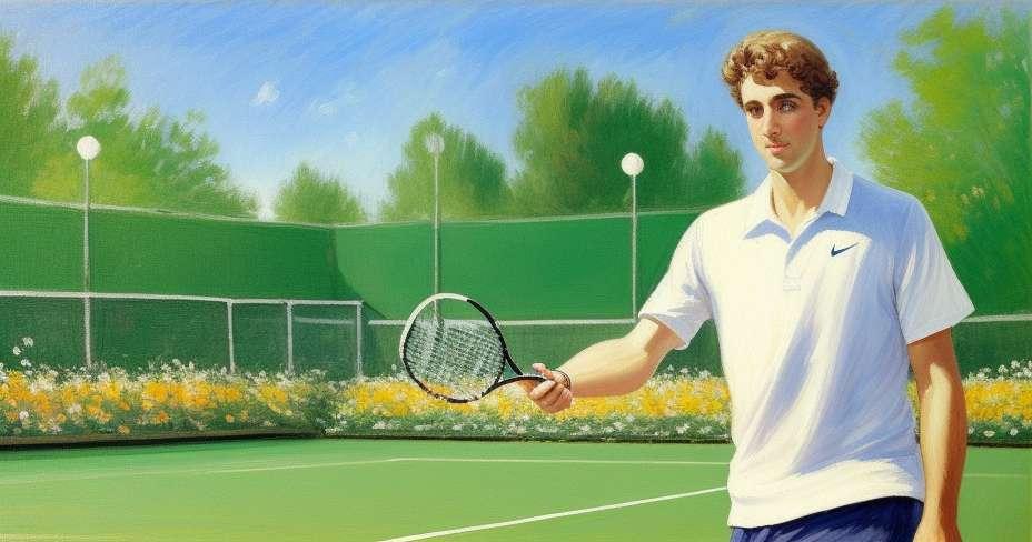 Rafael Nadal vykoná test potu