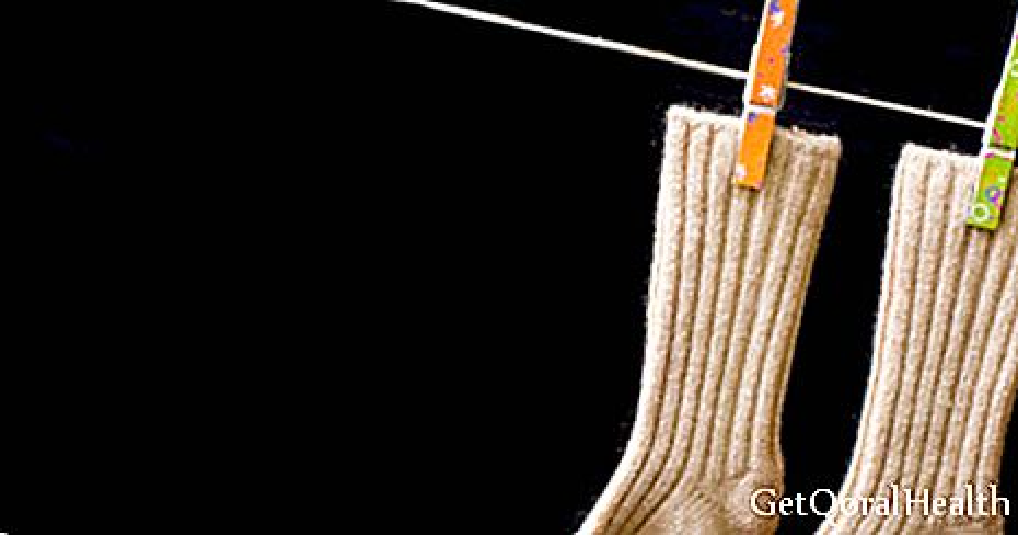 قماش مضاد للجراثيم يمنع الرائحة الكريهة على القدمين