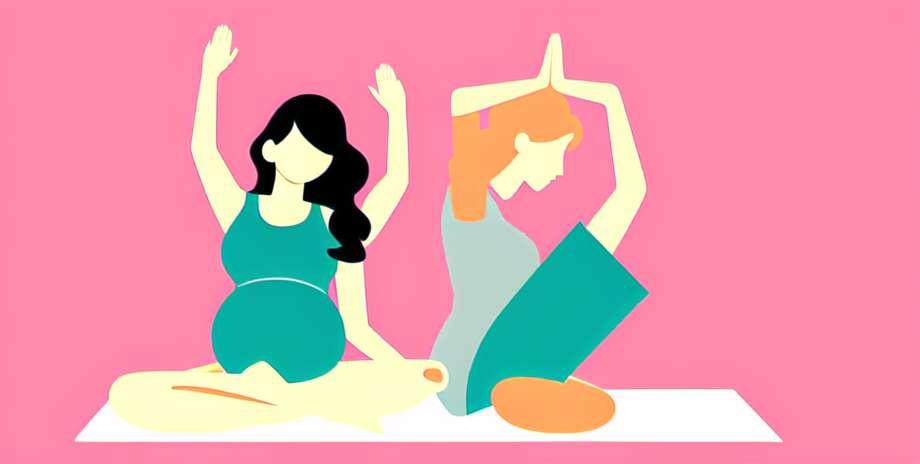 9 Monate Schwangerschaft in voller Form