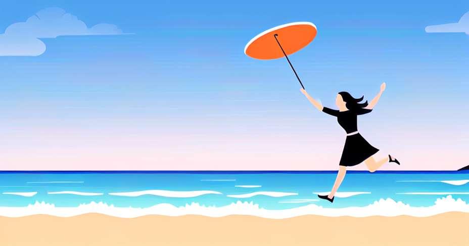 Vježbajte rutinu na plaži