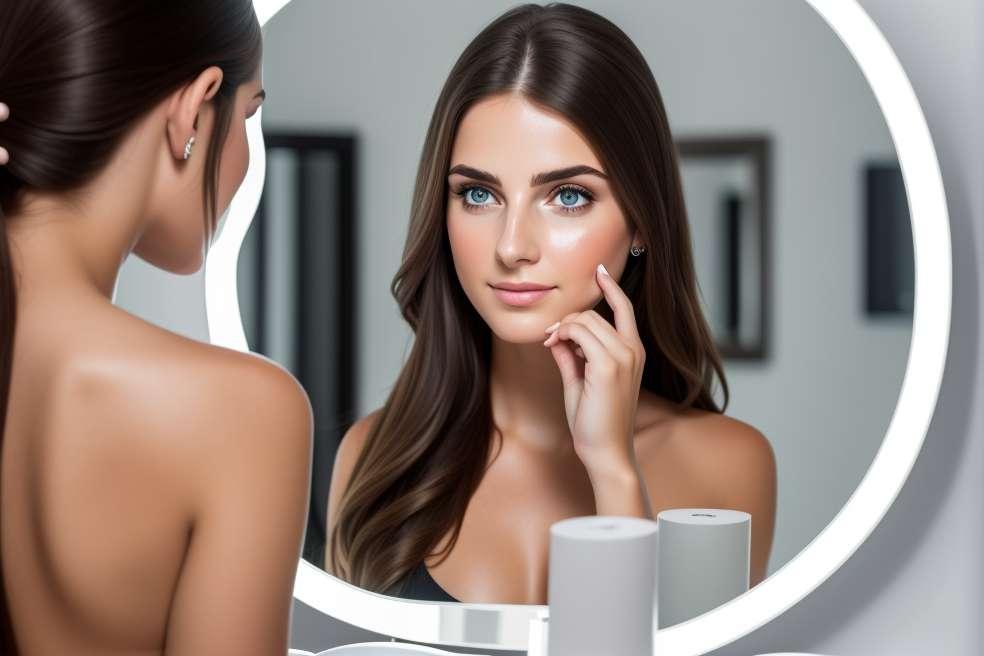 בהריון מול המראה