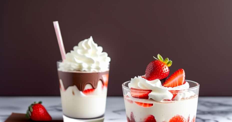 Desfrute de uma mousse de café de baixa caloria