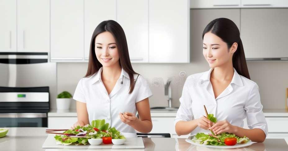 Salad ayam dalam sos lemon pedas