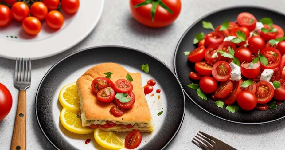 Salata od salate od artičoka i svježi sir s pestom