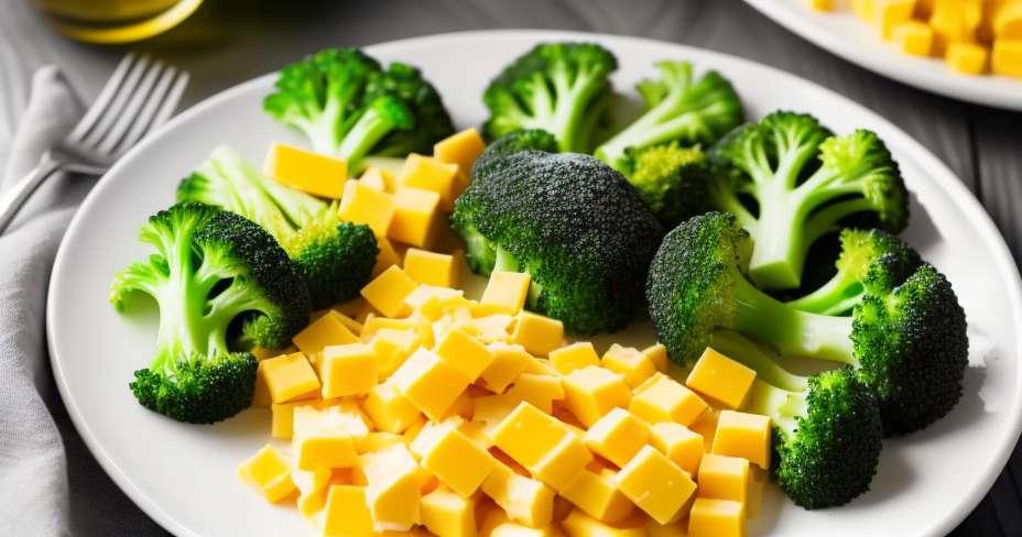 Salad kentang dengan kacang polong dan minyak daun bawang