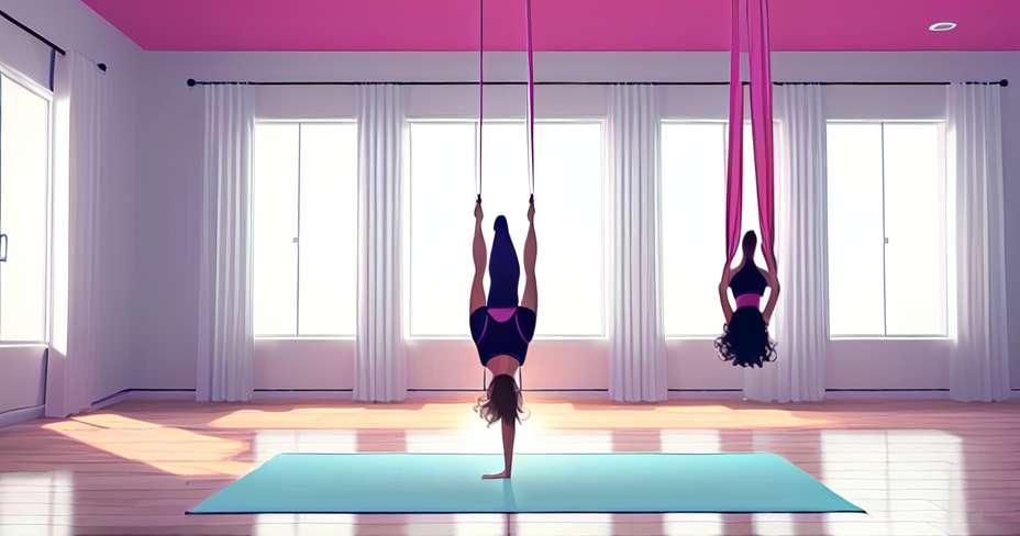 Kurangkan berat badan dengan yoga udara
