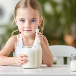 Mælk og mælk til børn fra 1 til 3 år