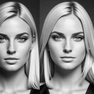 Elle a été traitée différemment pour la teinture des cheveux blonds