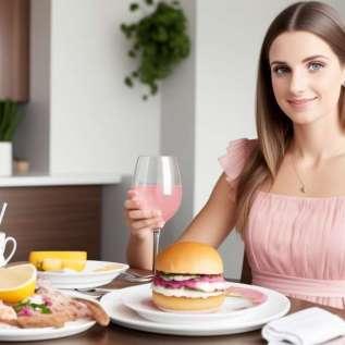 Noel fincan kırmızı meyve yoğurt ve ballı