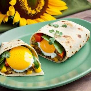 Burritos aux oeufs brouillés
