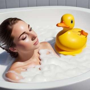 Rahatlamak için banyo köpüğü