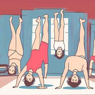Yoga udara, kebebasan yang nada badan anda